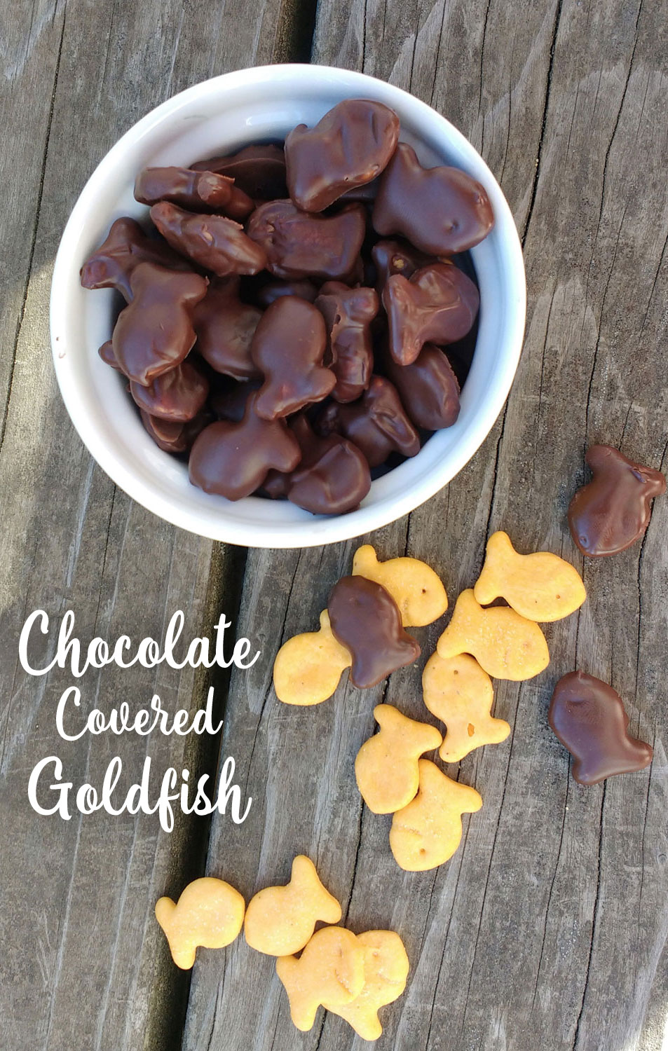 How to make Chocolate Covered Goldfish Crackers - Mommy Scene