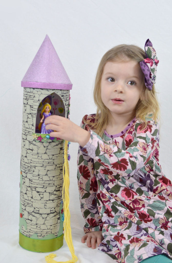 How to make a homemade DIY Rapunzel Princess Tower - Mommy Scene