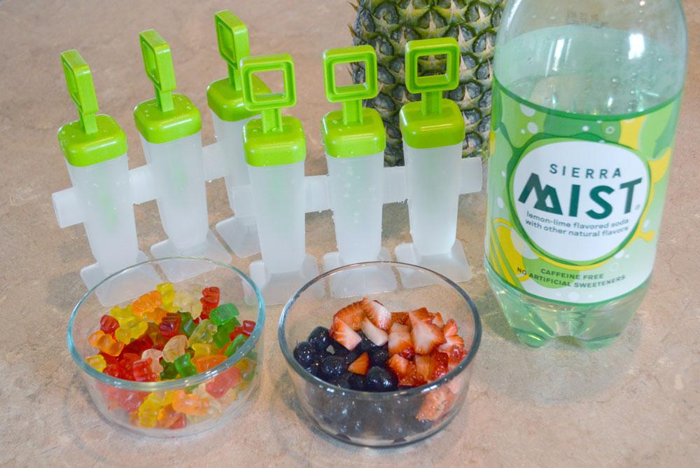Homemade soda ice popsicles with fresh fruit - Mommmy Scene