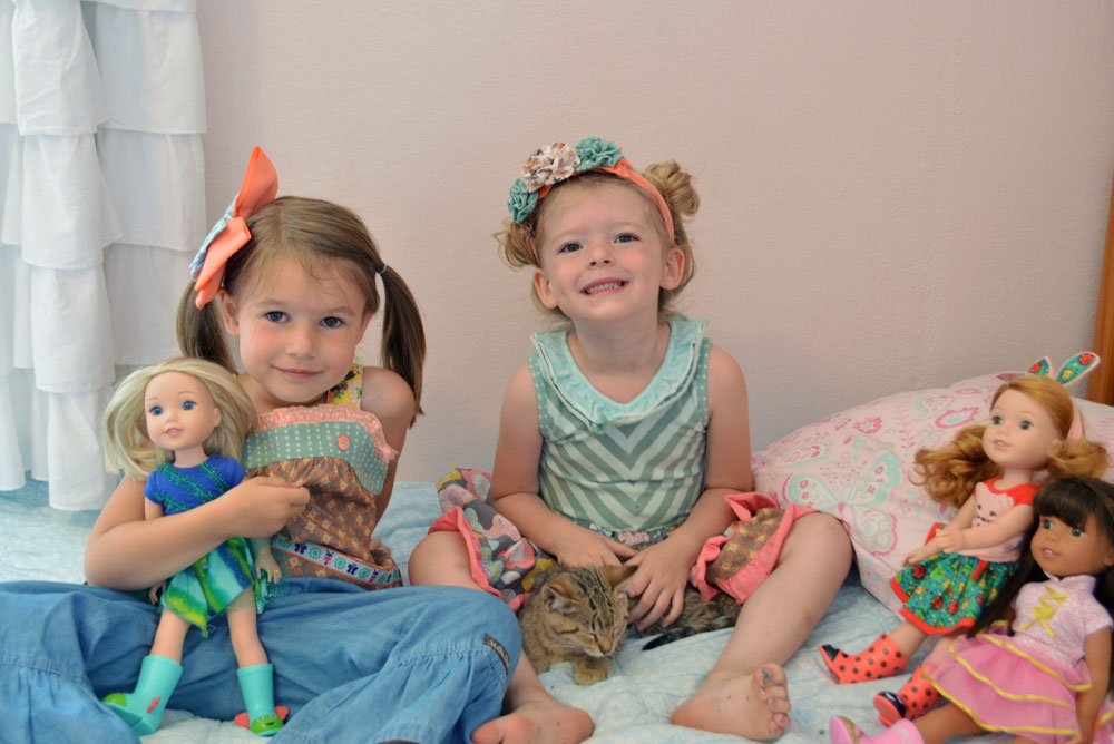 Every girl needs a Matilda Jane dress, a fuzzy kitten, and a WellieWishers American Girl doll - Mommy Scene