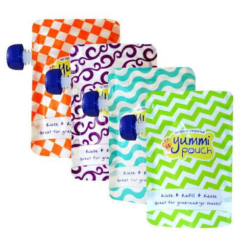 Homemade Healthy Baby Food Yummi Pouch Brights reusable food pouches - Mommy Scene