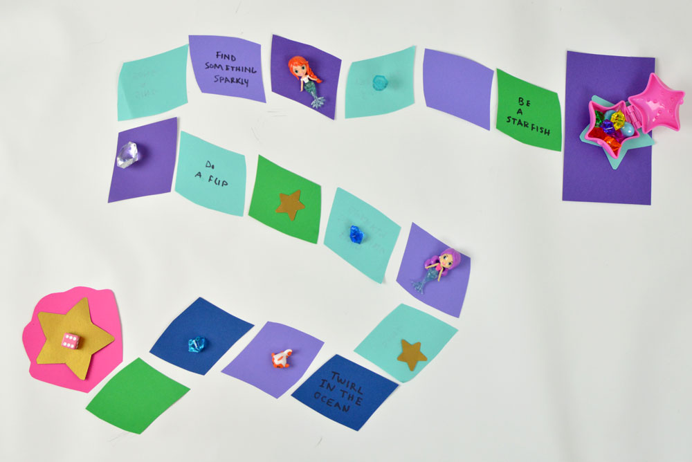 Fun DIY Mermaid Game with characters - Mommy Scene