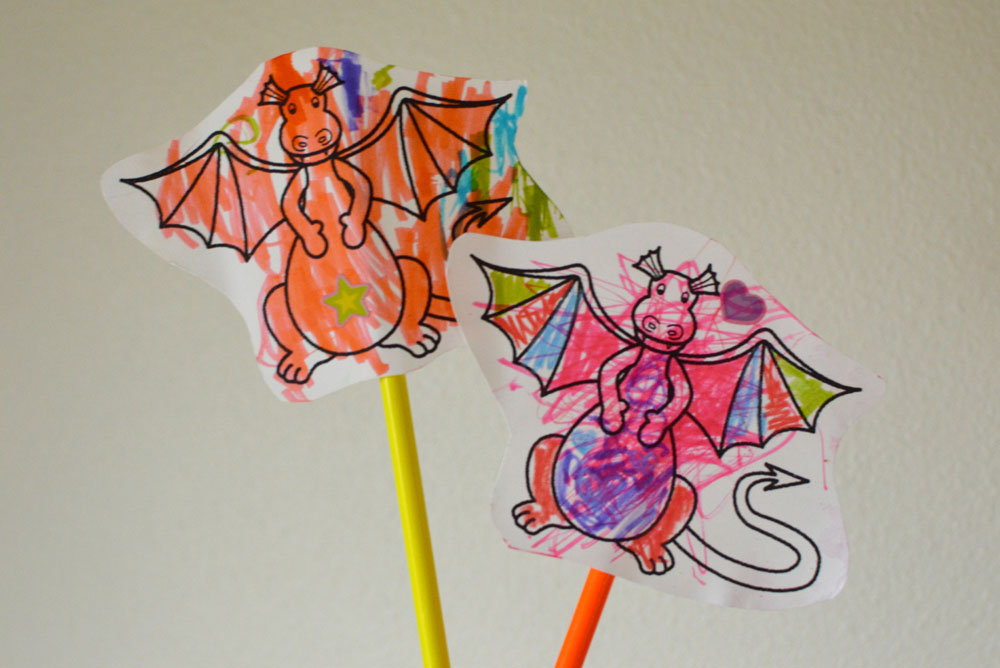 Make Paper Character Puppets - Mommy Scene Spring Break Activities