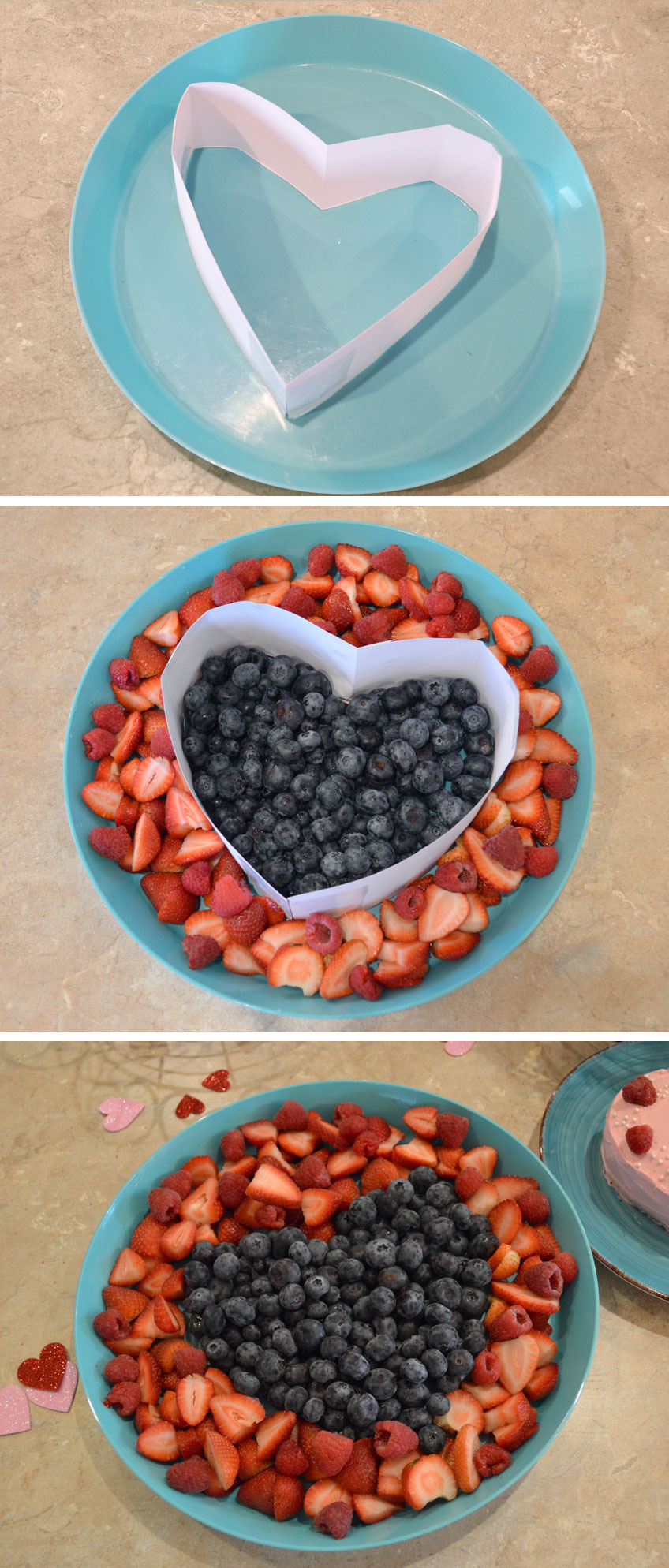 Cute heart fruit plate for kids parties - Mommy Scene