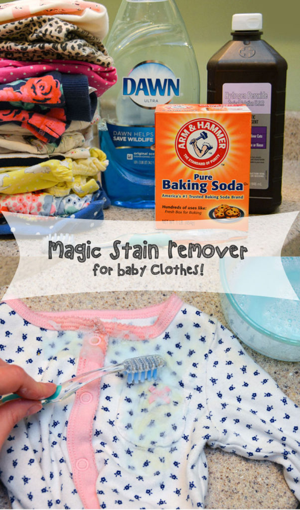 Easy stain remover for baby clothes - Mommy Scene