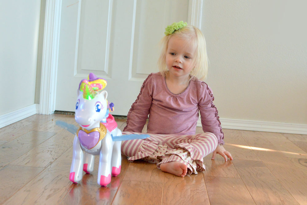 Matilda Jane dress and Vtech Twinkle the Magical Unicorn - Mommy Scene