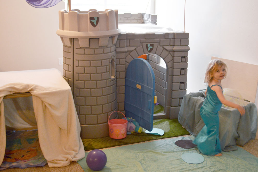 Fun mermaid inspired castle playhouse - Mommy Scene