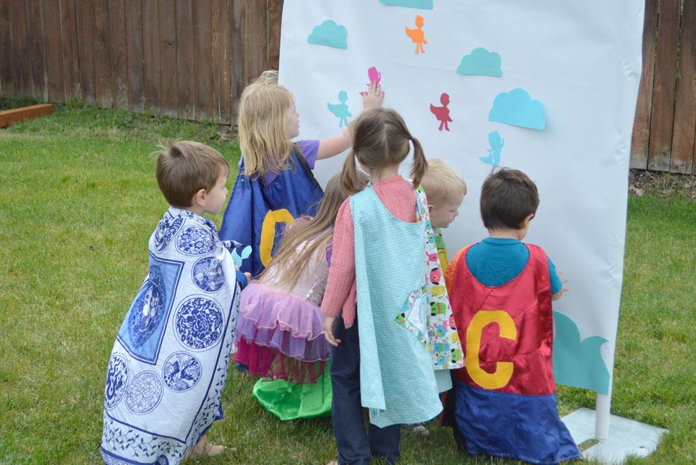 Cute Mermaid Superhero kids' birthday party game for preschoolers - Mommy Scene