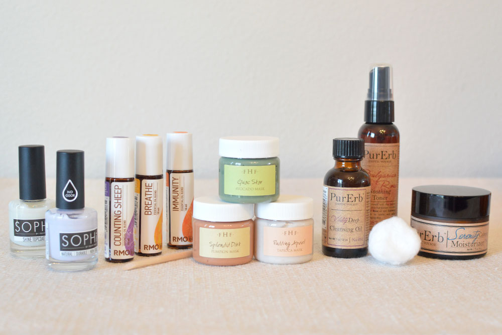 Natural beauty products, Sophi nail polich, Rocky Mountain Oils, Farmhouse Fresh, PurErb - Mommy Scene