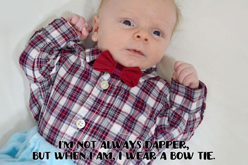 "alt=""No-Sew Dress Up Baby Bow Ties - Mommy Scene"""