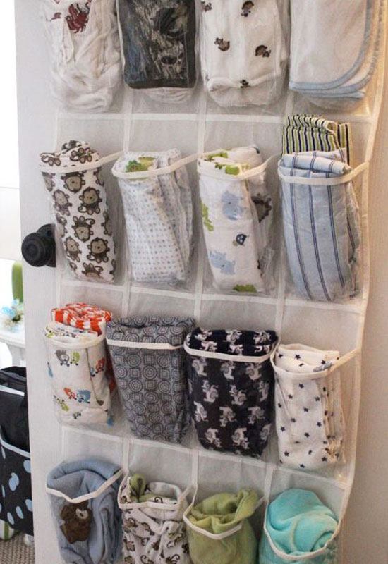 How to organize baby clothes shoe holder cloth diaper storage