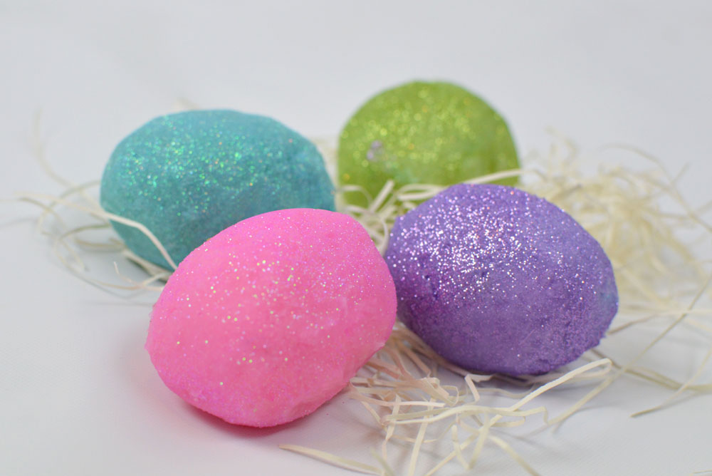 Moisturizing DIY Glitter Playdough - Mommy Scene Spring Break Activities