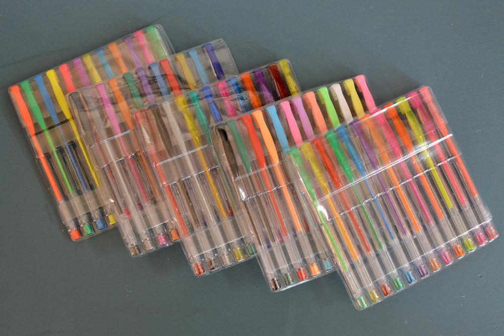 Reaeon 60 Colored Glitery Gel Pens - Mommy Scene