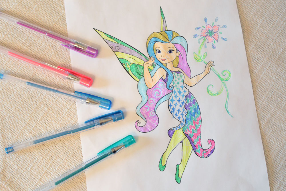 Set of 60 Colored and Glitter Gel Pens - Mommy Scene