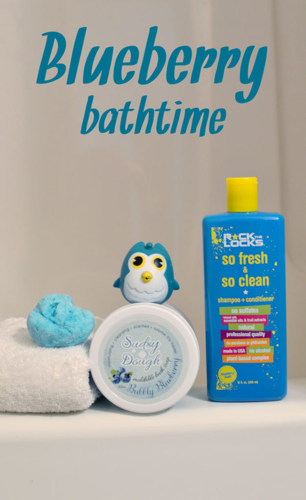 Fun blueberry bath time products - Mommy Scene