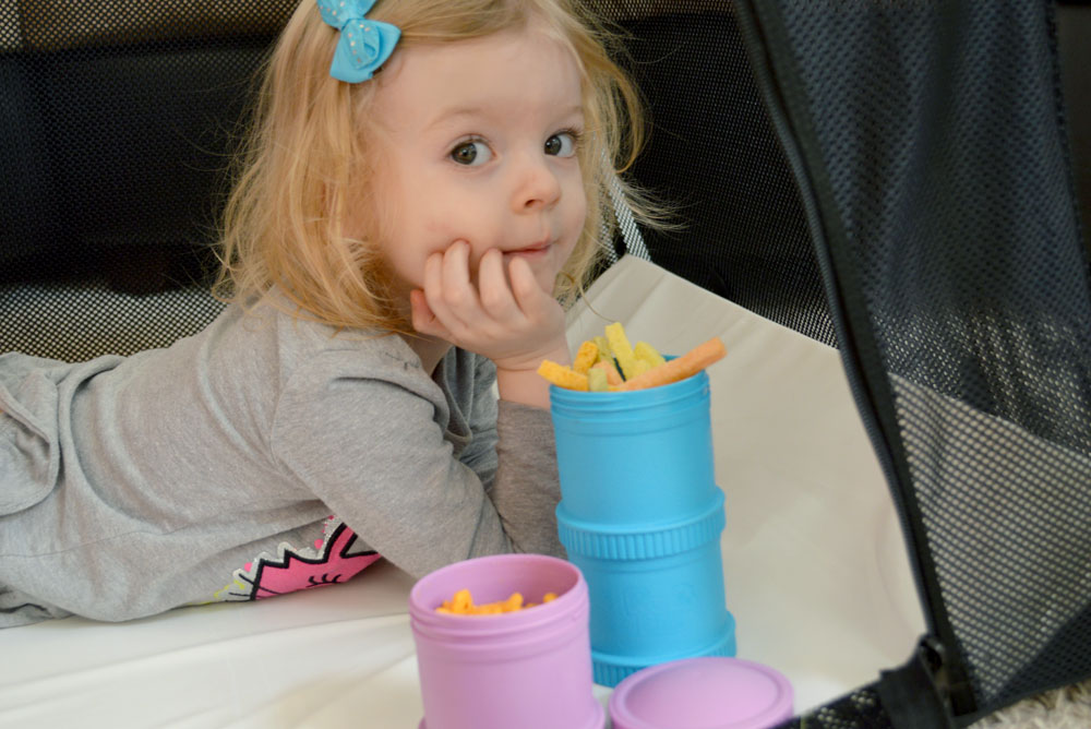 Colorful Recycled Re-Play Snack Stacks - Mommy Scene