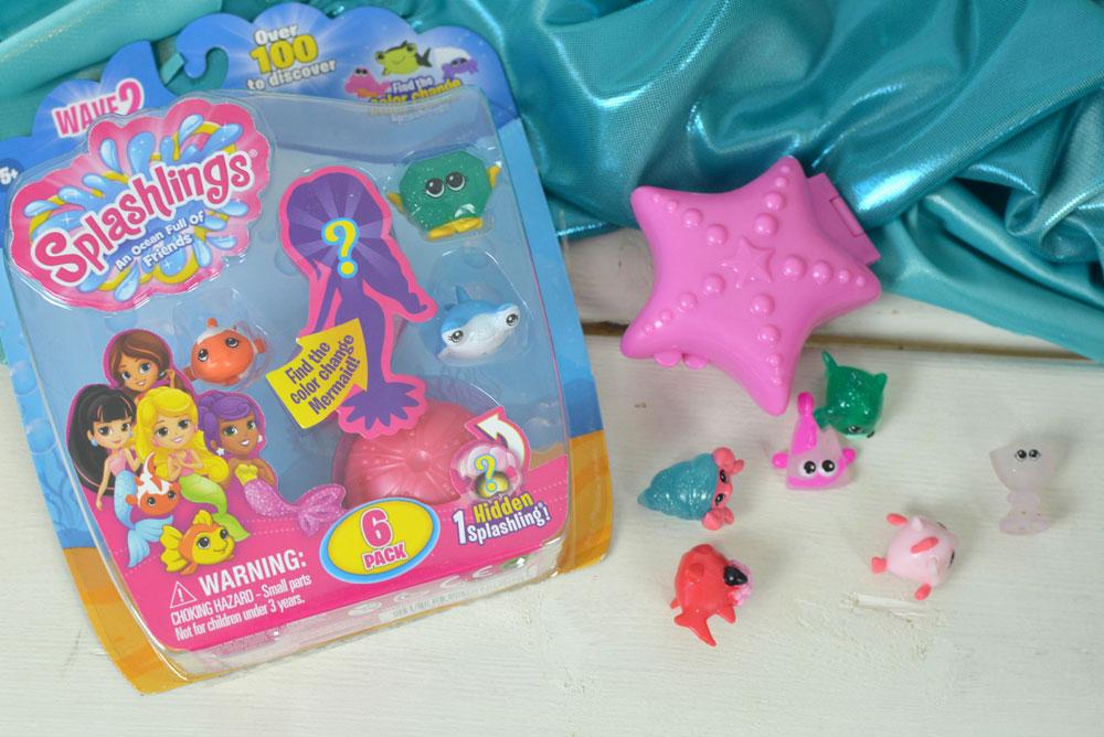 Splashlings Mermaid characters and ocean friends - Mommy Scene review