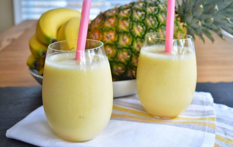 Creamy Pineapple Smoothie Refreshing Summer Beverages - Mommy Scene