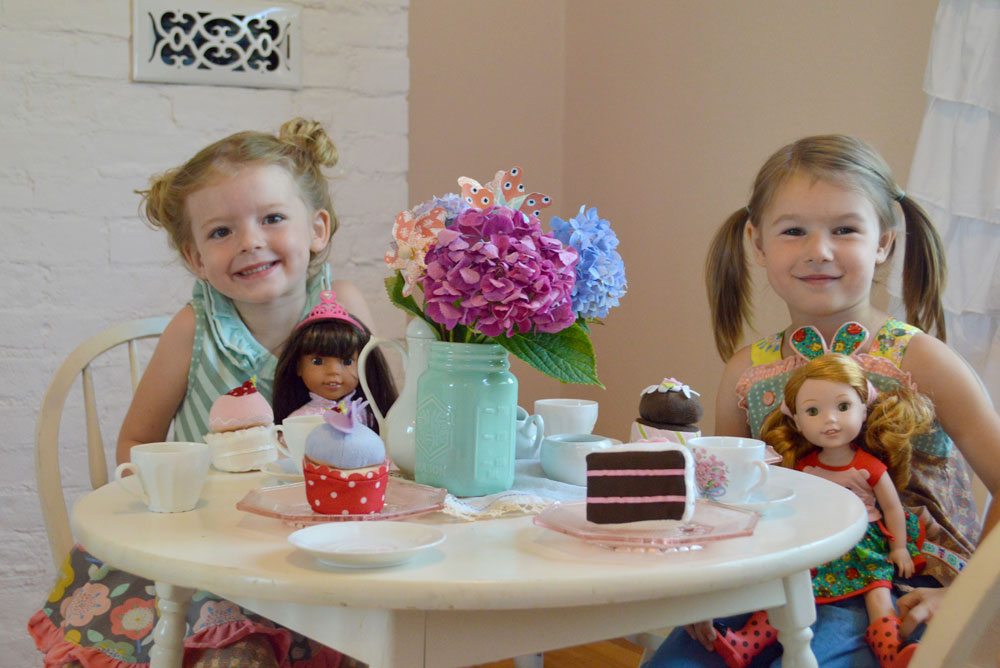 Matilda Jane Clothing and WellieWishers tea party - Mommy Scene