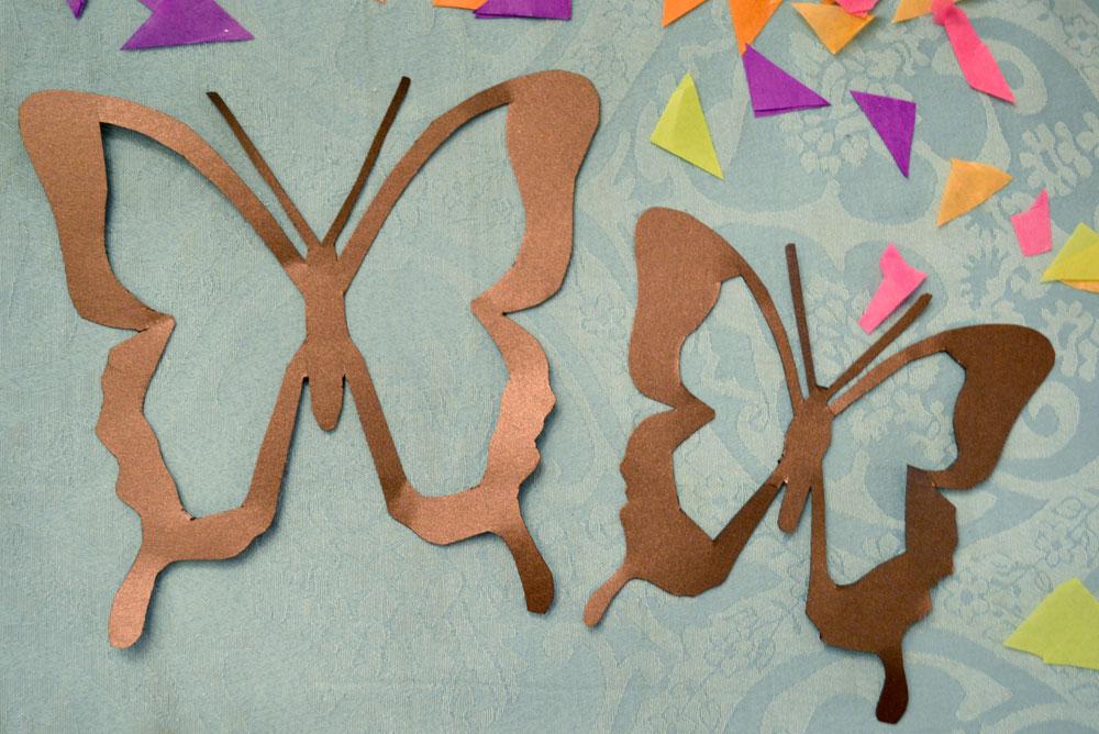 Tissue paper butterfly suncatchers kids craft - Mommy Scene