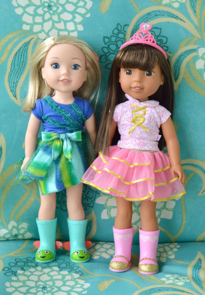 American Girl Wellie Wishers dolls Ashlyn and Camille - Mommy Scene review
