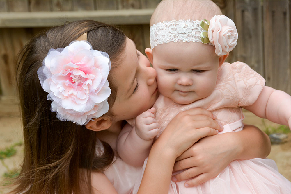 Flower Girl Fashion Ideas - we loved these blush pink dresses with tulle and lace! - Mommy Scene