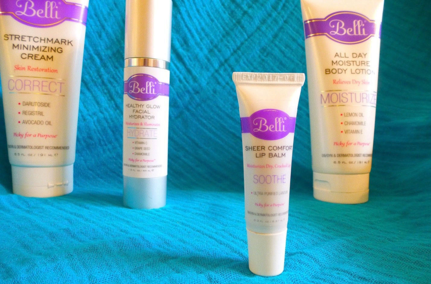 Belli Skincare products - Mommy Scene