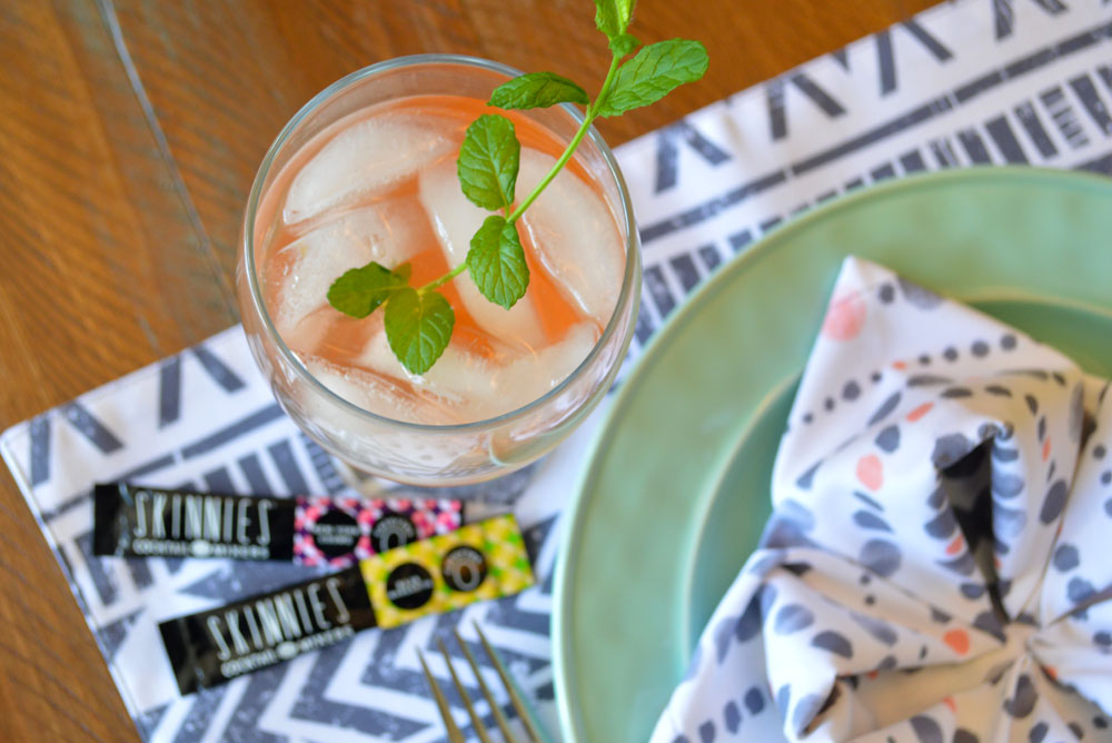 Mix up dinner party cocktails with RSVP Skinnies drink mixers - Mommy Scene