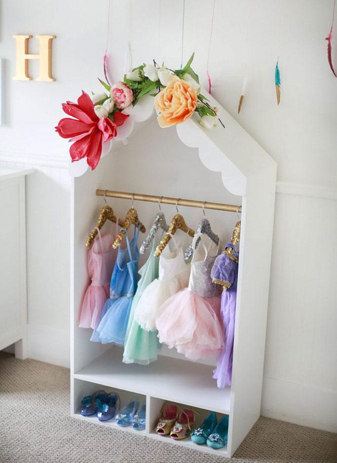 Beautiful DIY Dress Up Storage Closet