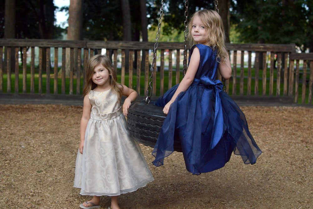Just Unique Boutique girls' gold dress organza overlay for little princesses - Mommy Scene