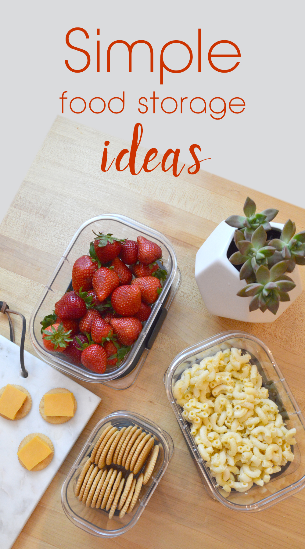 Simple Food Storage Ideas - Mommy Scene
