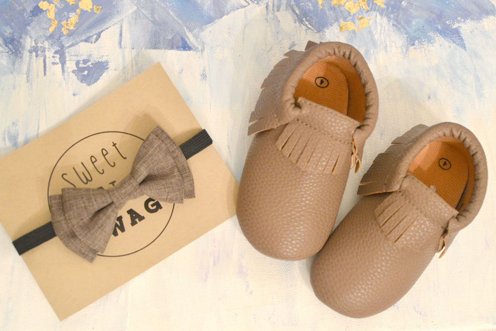 leather baby moccasins from Sweet N Swag - Mommy Scene