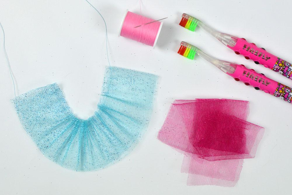 Easy DIY toothbrush tulle skirts - Mommy Scene