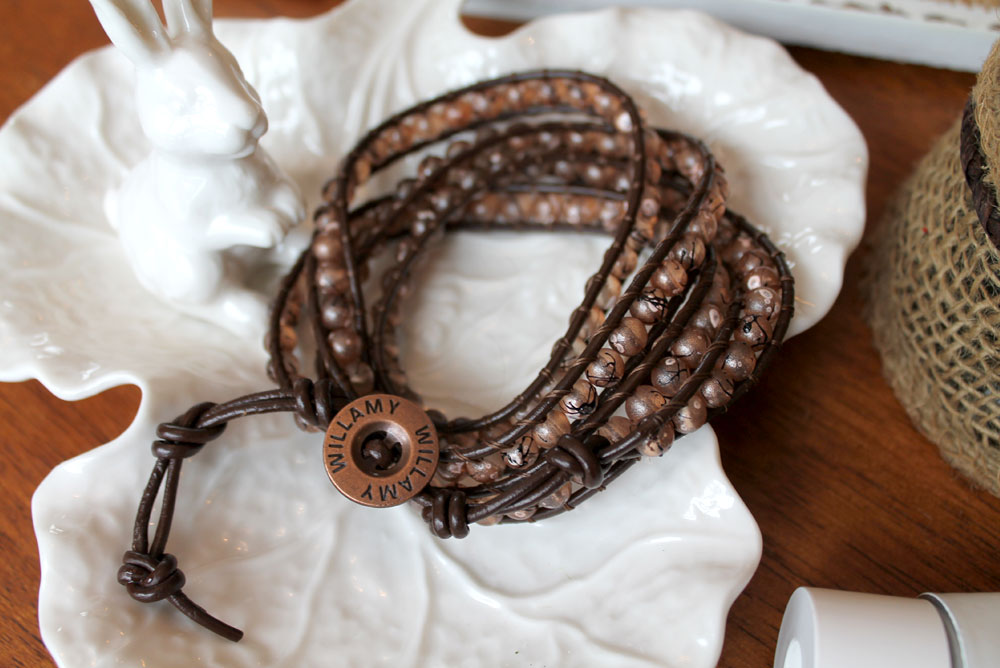 Gorgeous Williamy leather wrap bracelet - Mommy Scene