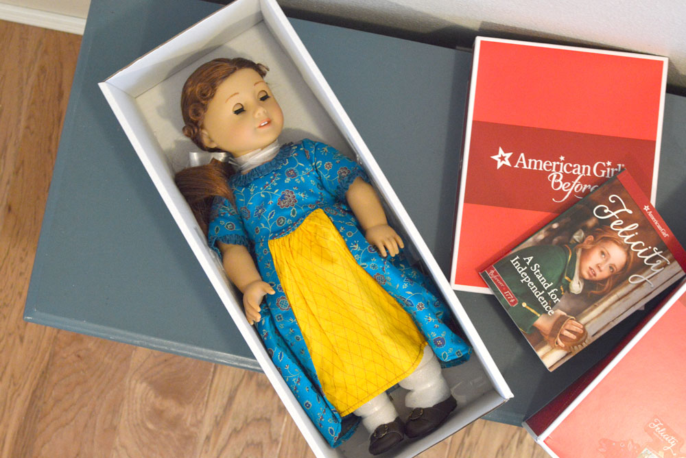 American Girl Felicity doll in the box - Mommy Scene