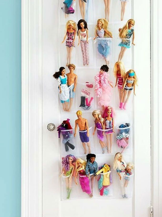 Shoe holder barbie organizing idea - Mommy Scene