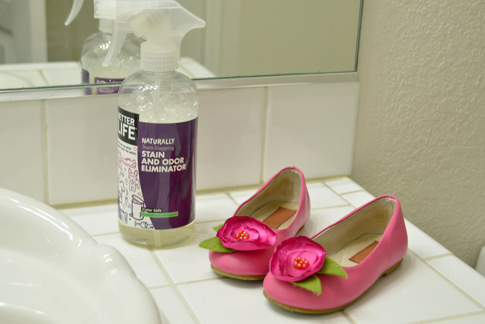Treat stains on clothing and shoes with Better Life Stain Remover - Mommy Scene