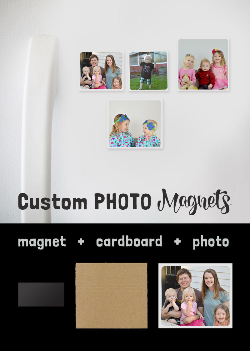 Custom photo magnets gift ideas - Mommy Scene