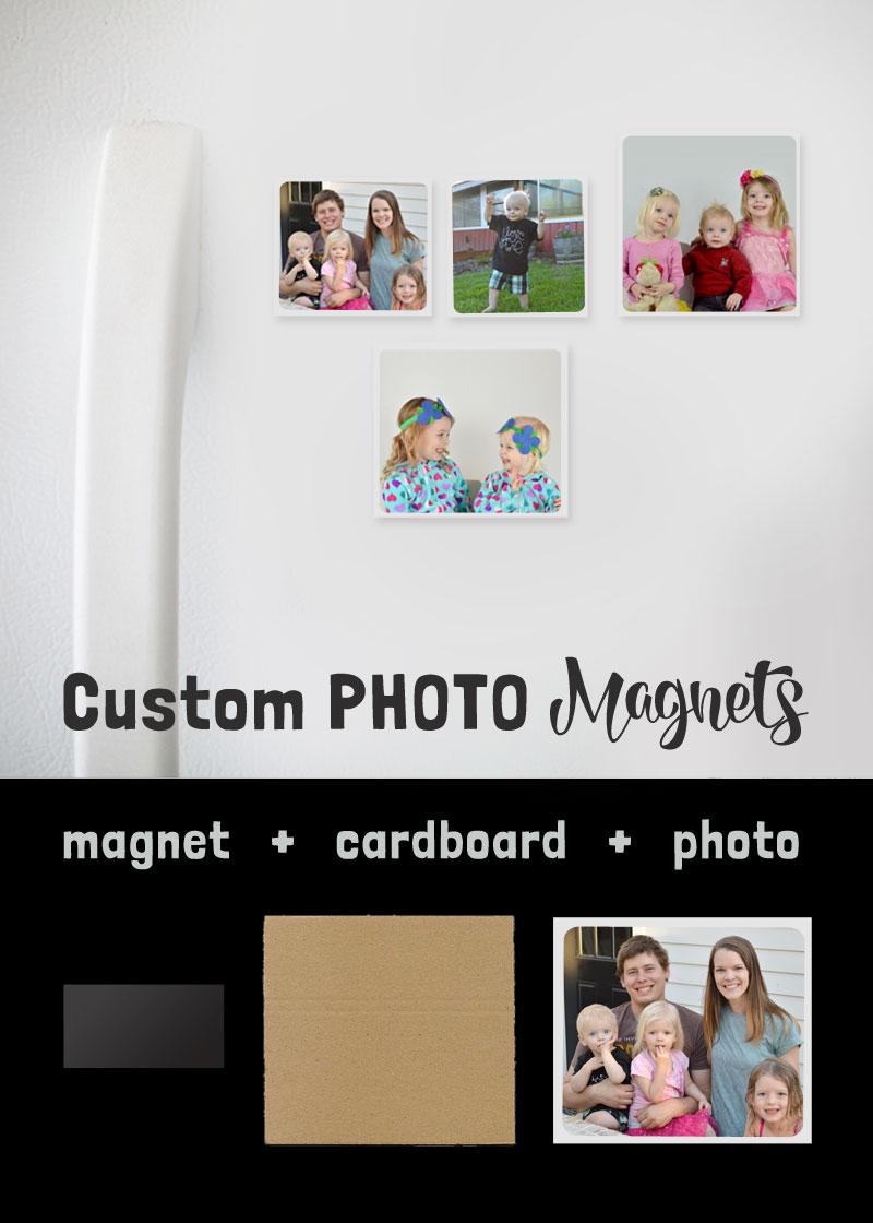 Custom photo magnets gift ideas - Mommy Scene