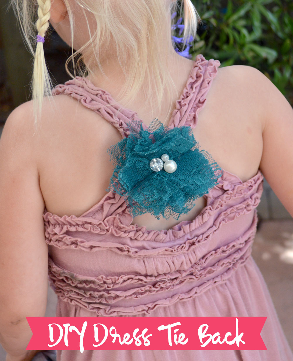 DIY Dress Tie Back with a hair band - Mommy Scene