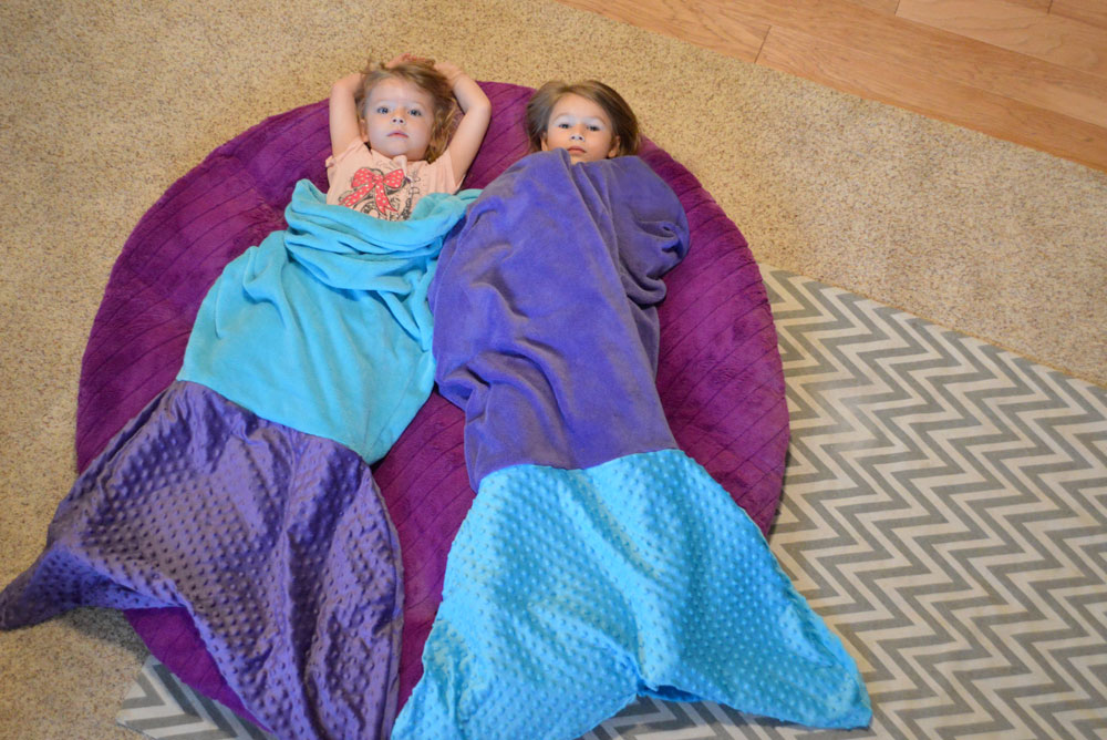 Easy DIY Mermaid Tail Blanket - Mommy Scene