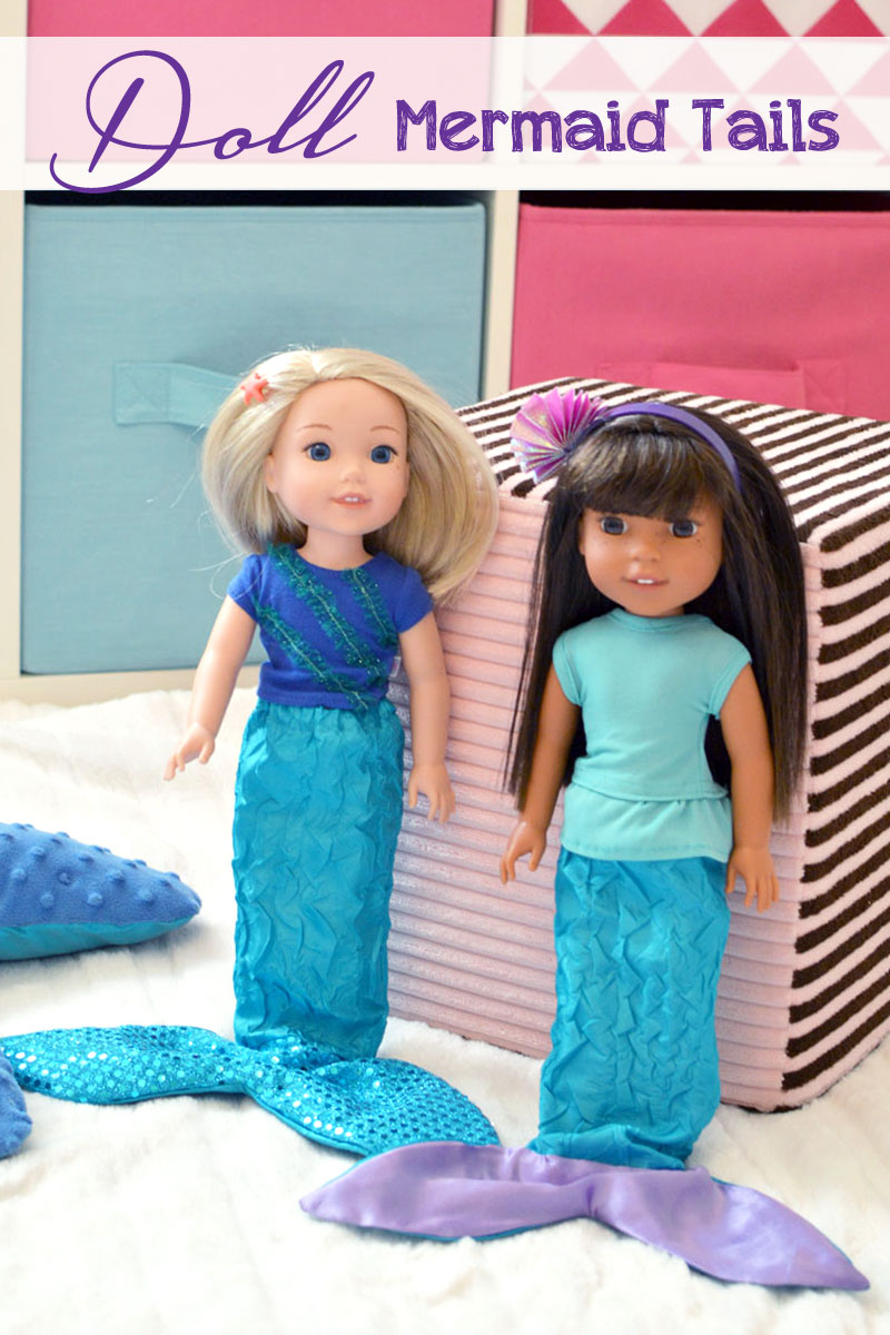 Doll mermaid tails kids sewing project idea