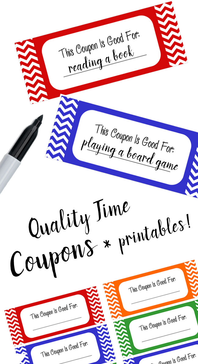 Quality Time coupons gift ideas for dad - Mommy Scene