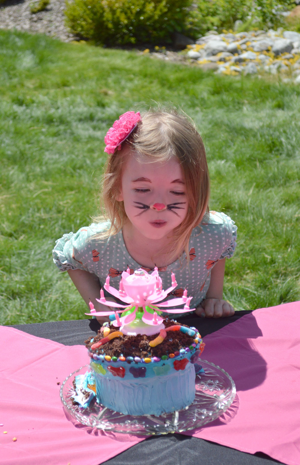 Kids' birthday party ideas flower pot cake