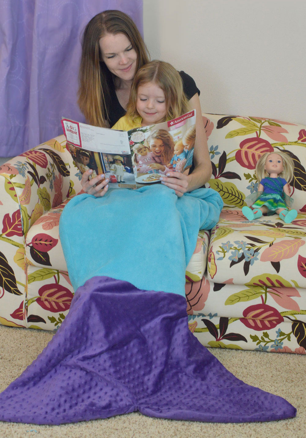 Cozy with a kids mermaid blanket tail - Mommy Scene