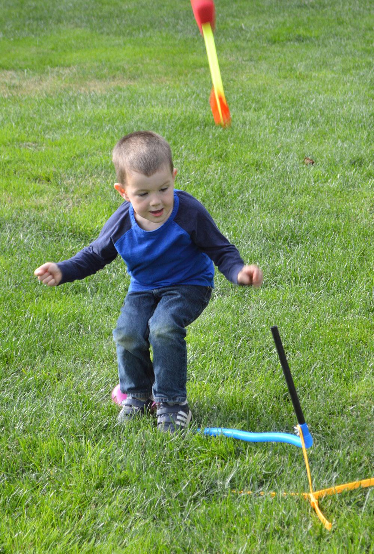 Primary Kids' Clothing stomp rocket backyard fun