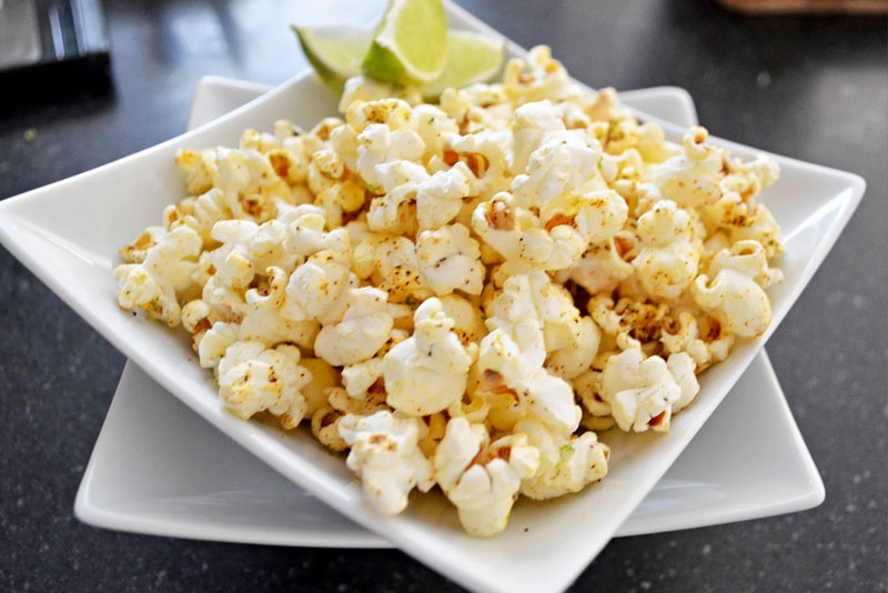 Chili Lime Popcorn Backyard Movie Night