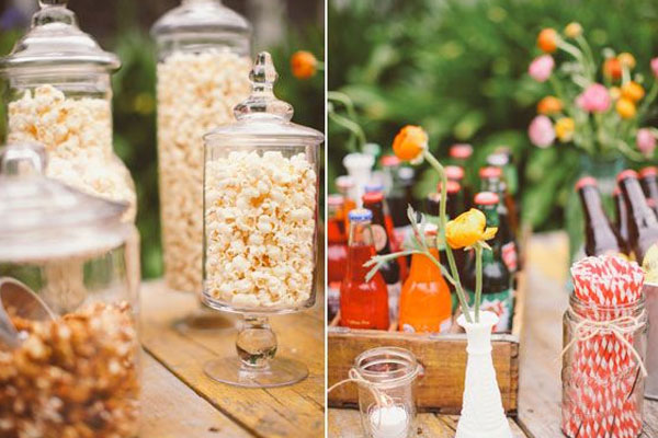 Backyard Movie Night snacks and drinks - Mommy Scene