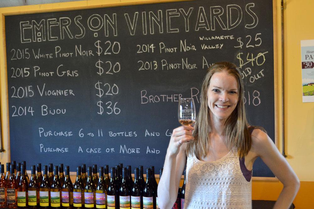 Emerson Vineyards wine tasting in Oregon - Harvest Host RV Family Trip - Mommy Scene
