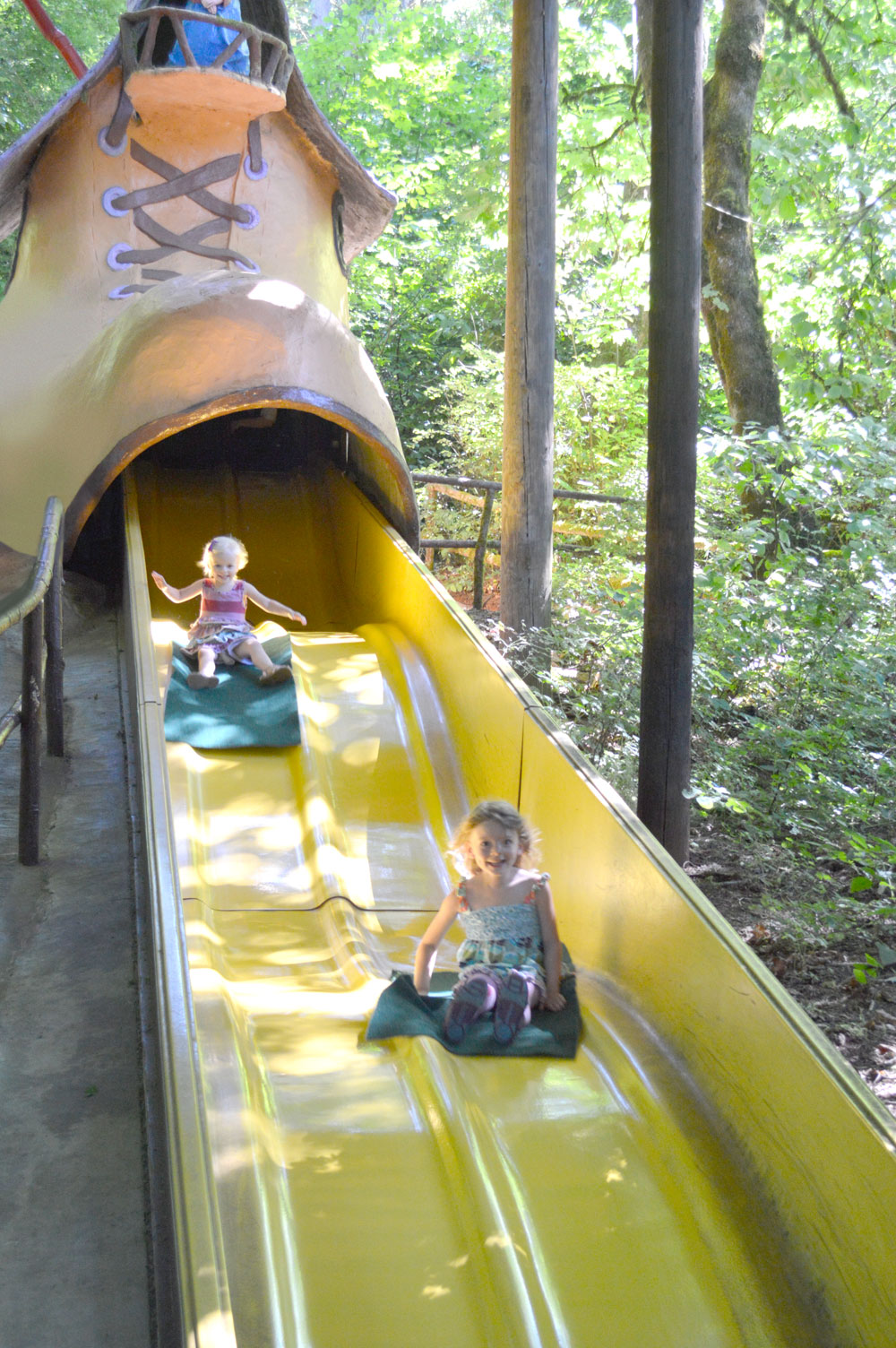 Enchanted Forest in Oregon boot slide - Mommy Scene